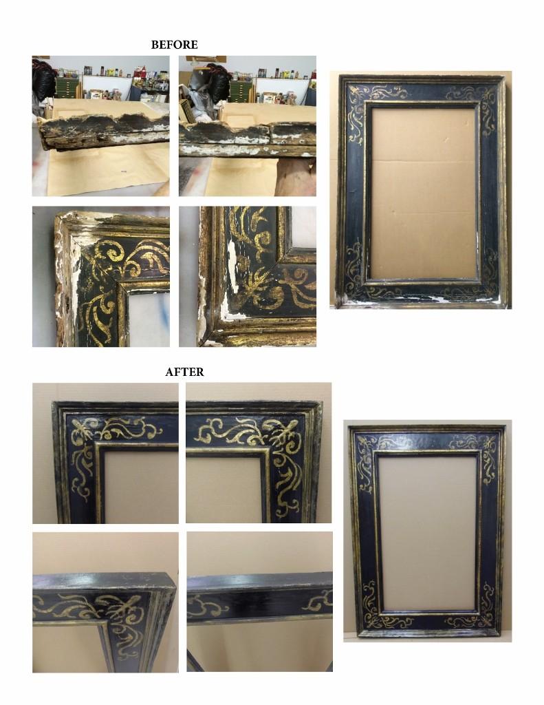 Sgraffito Frame Restoration